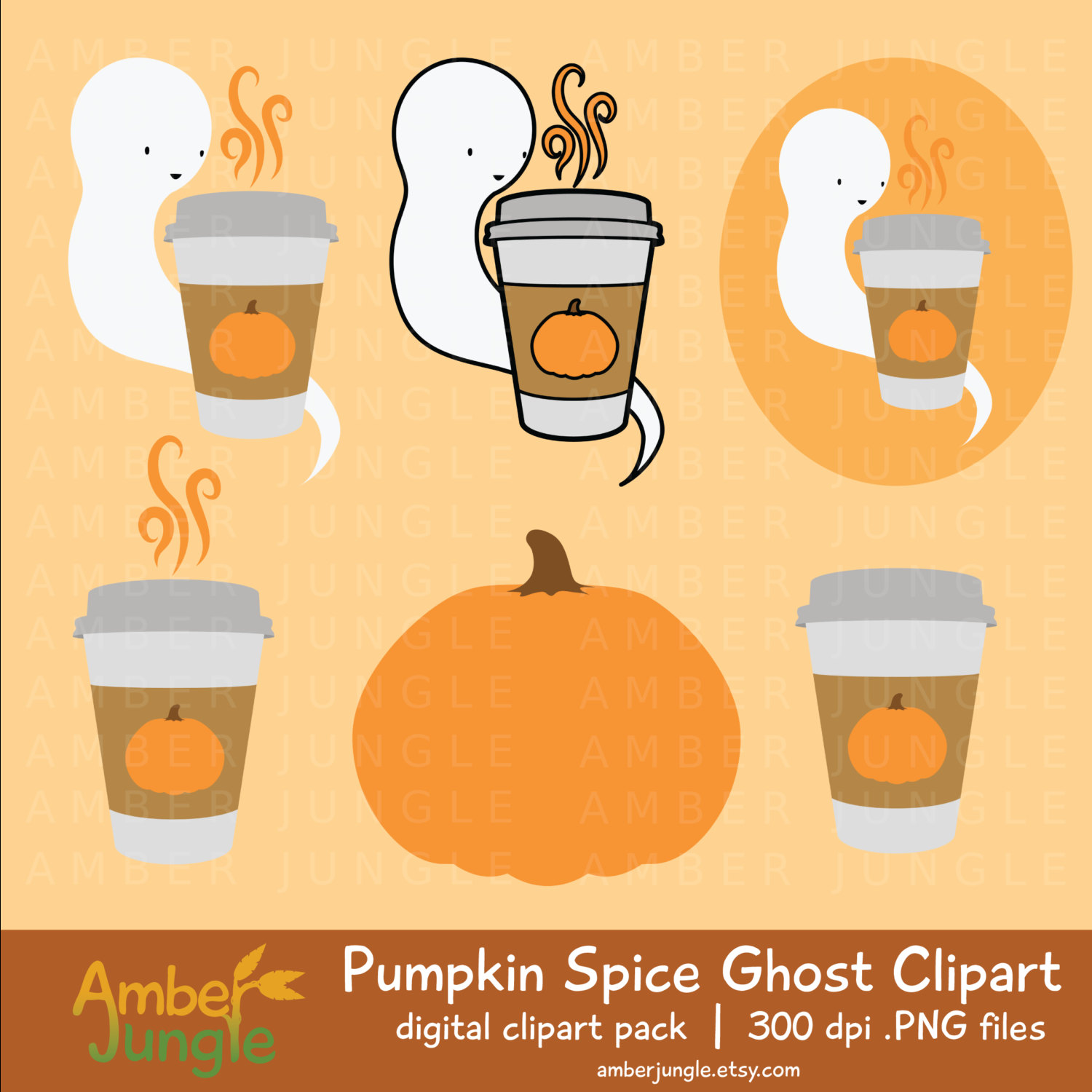 Ghostly clipart fall #11