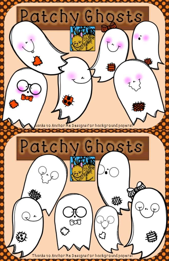 Ghostly clipart fall #8