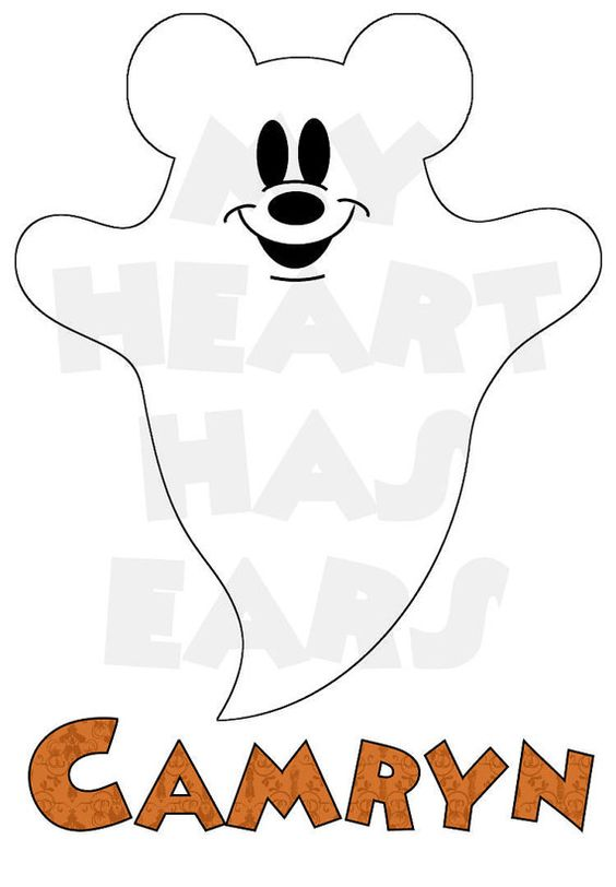 Ghostly clipart mickey Mouse Printable digital t clip