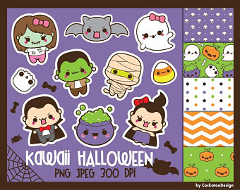 Ghostly clipart paper Halloween clip clipart kawaii clipart