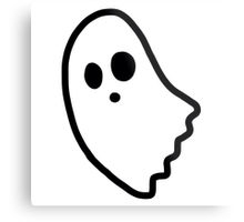 Ghostly clipart spoopy Metal Print Spoopy SweetObsessives Redbubble