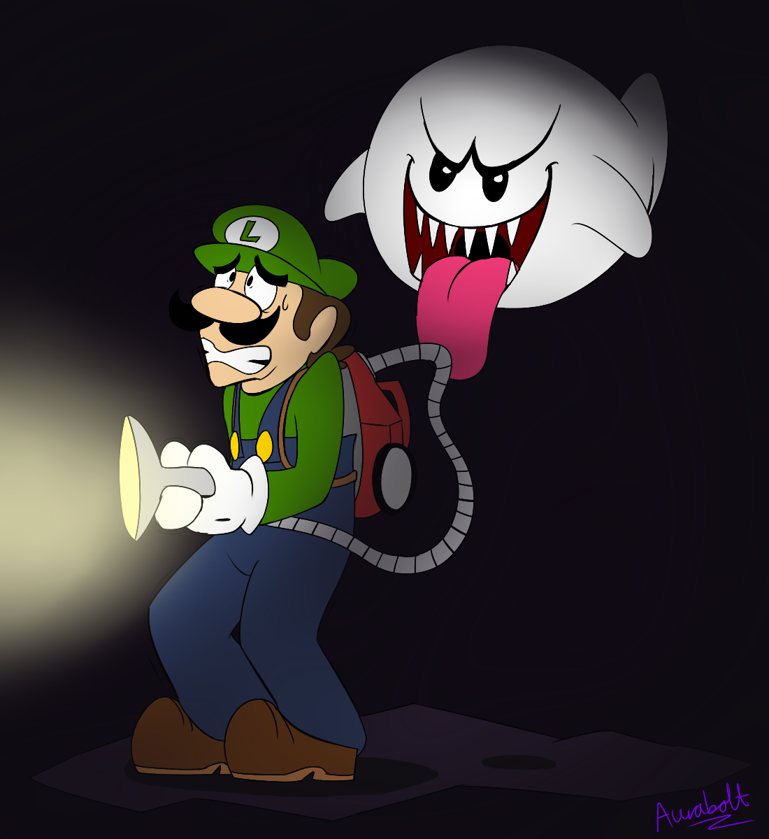 Ghostly clipart spoopy The by ProfessorAurabolt  Luigi