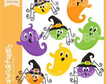 Ghostly clipart yellow Ghost clipart Clipart Digital Halloween