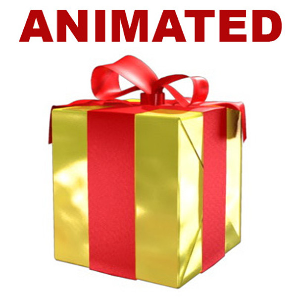 Gift clipart animated #7