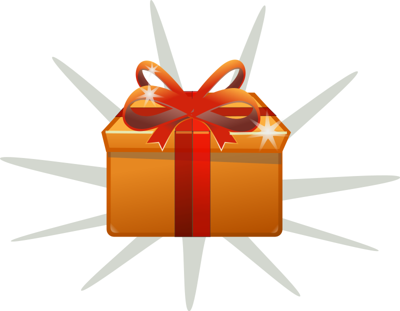 Gift clipart animated #4