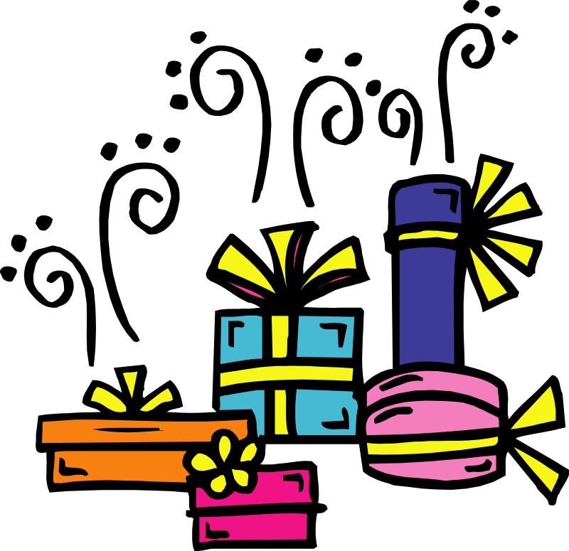 Gift clipart birthday celebration #7