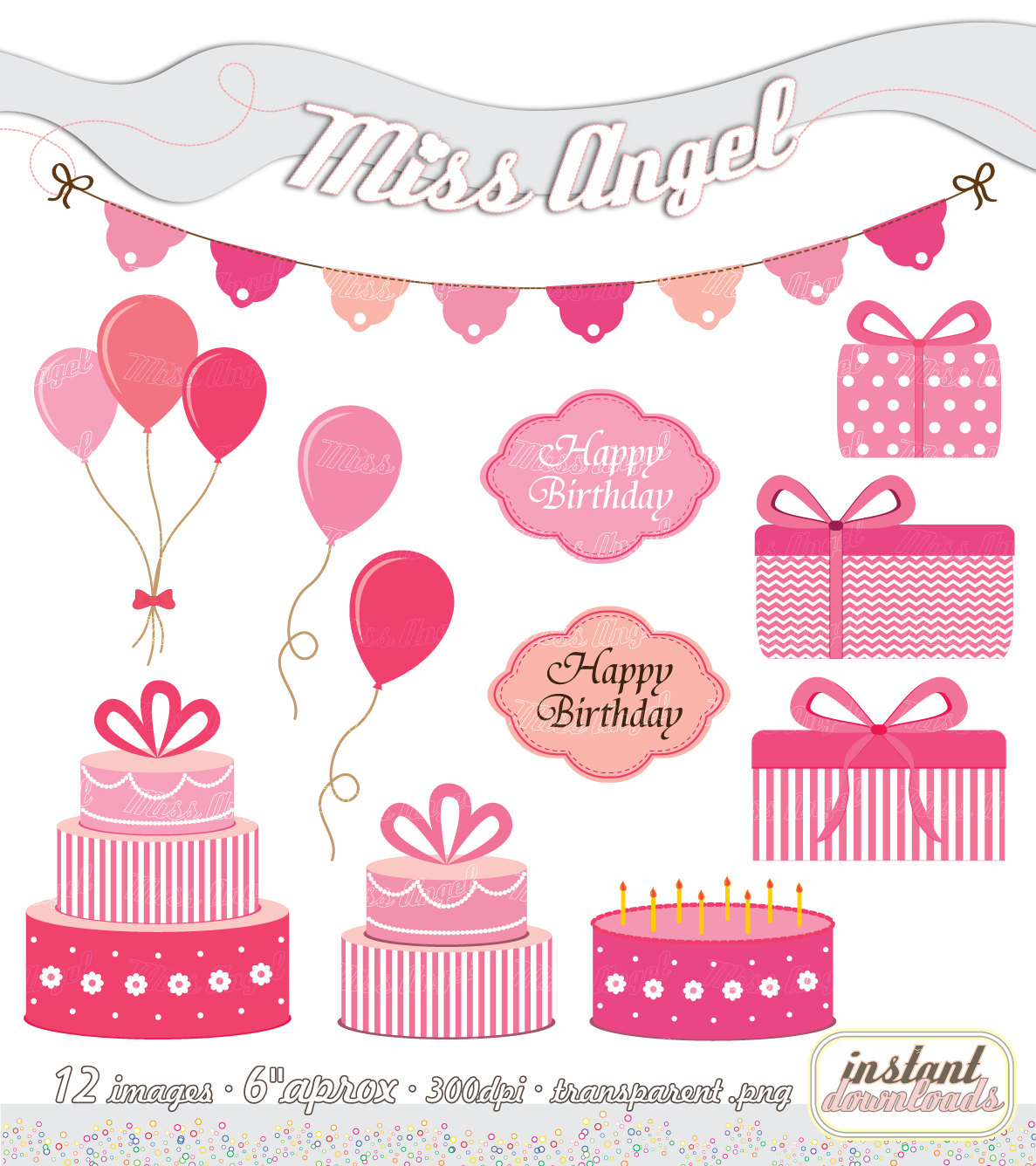 Decoration clipart pink party Party CLIPART Tags Peach Party