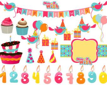 Birthday clipart bird Clipart Cake Banner Birthday Birthday