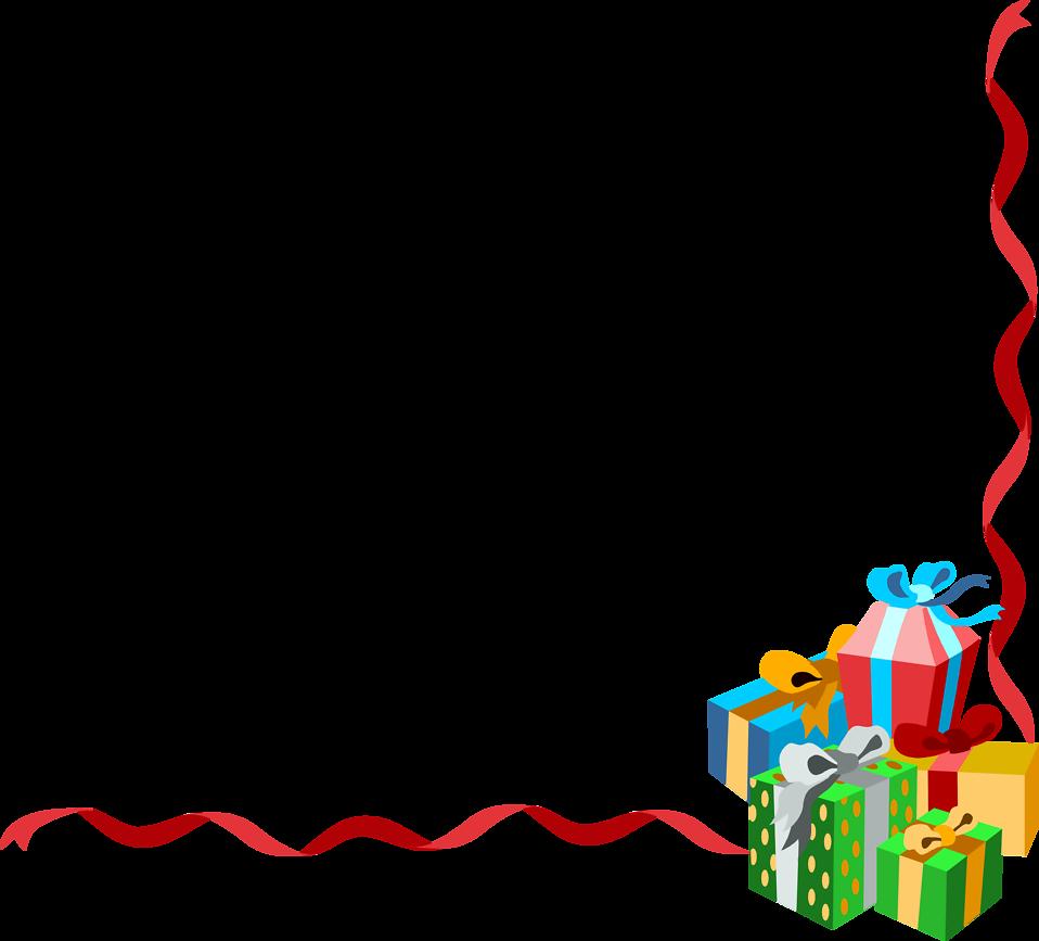 Holydays clipart corner Christmas transparent christmas collection clipart