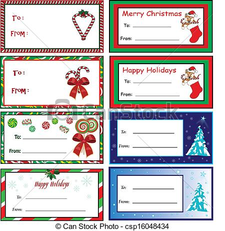 Merry Christmas clipart gift tag Vectors Christmas Tags  gift