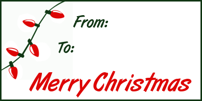 Merry Christmas clipart gift tag 1 clipart gift Free tags