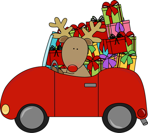 Reindeer clipart presents Reindeer Gifts with Clip Christmas