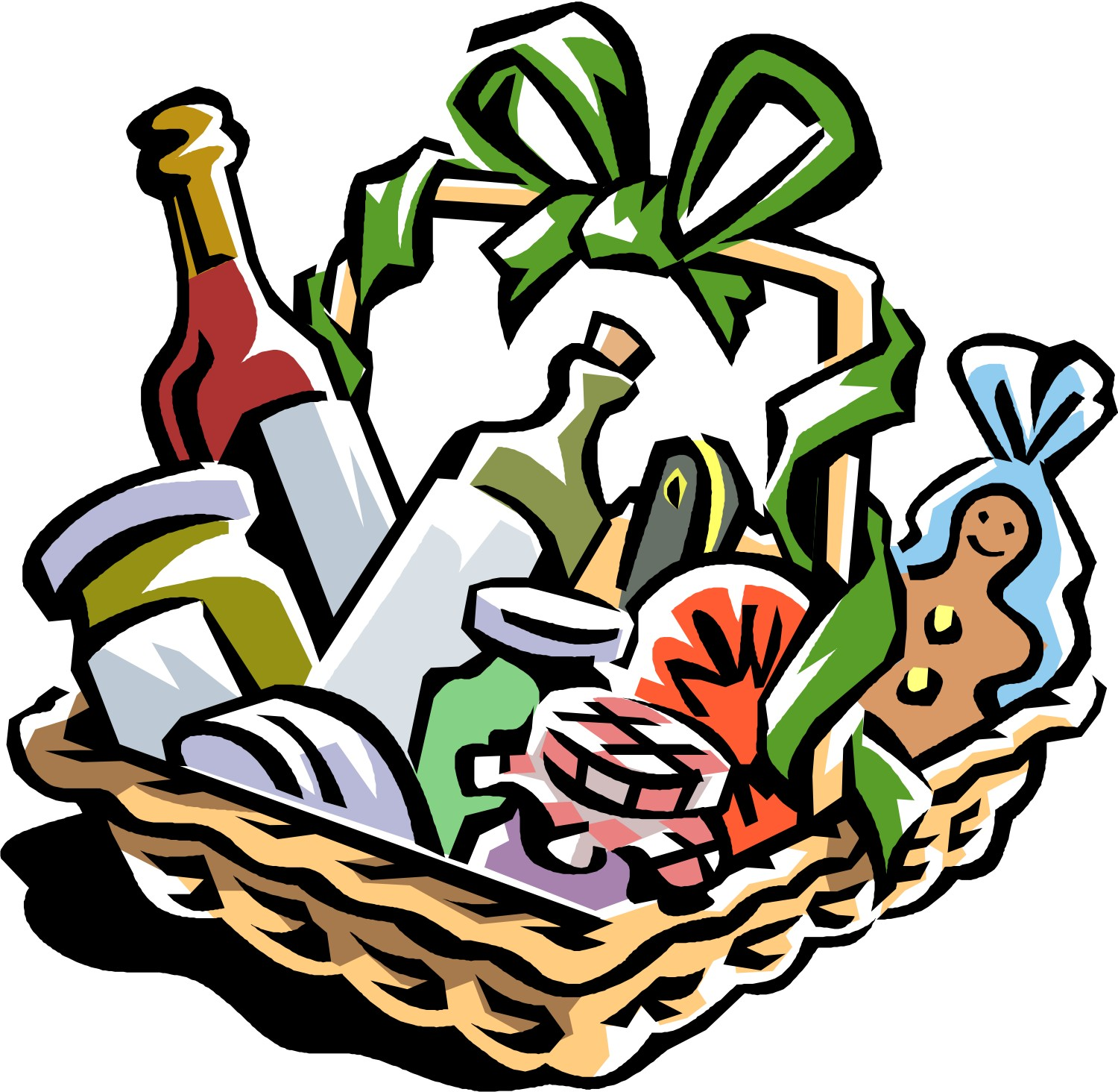 Merry Christmas clipart wine basket Art on Clipart Raffle Clip