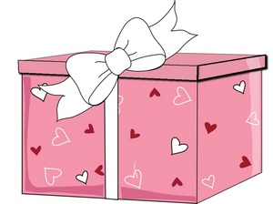 Box clipart valentine's day Ribbon with valentine a wrapped