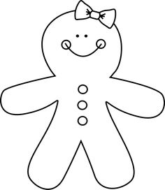 Black & White clipart gingerbread Clipart And Black And Gingerbread