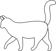 Ginger clipart sketch Sketch outline collection cat black