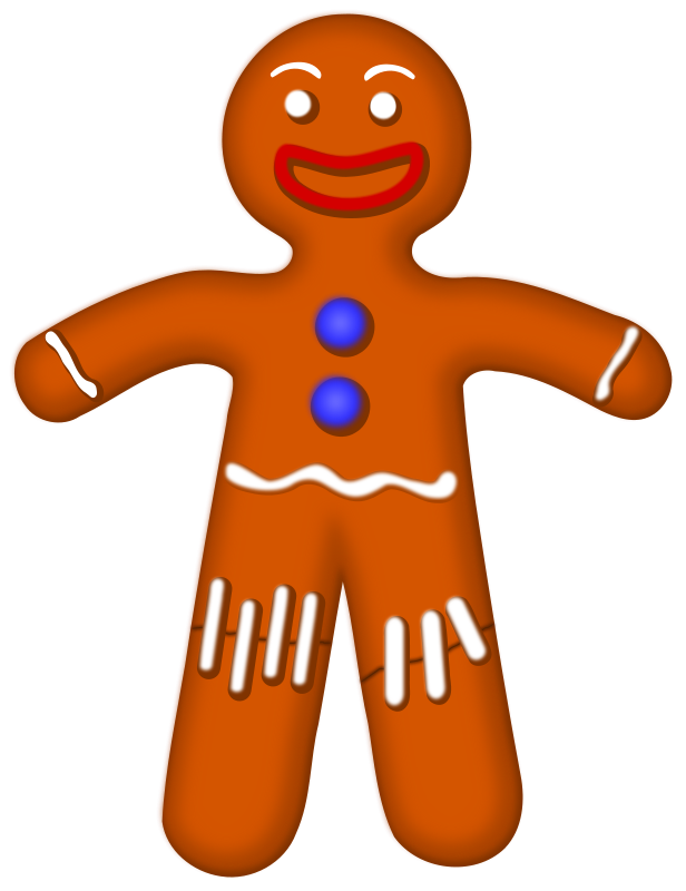 Gingerbread clipart #12