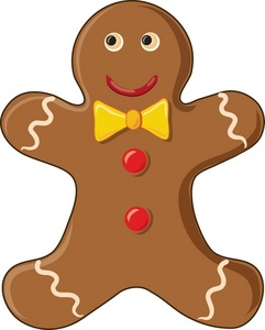 Brown clipart gingerbread man Free Pictures Clipart Gingerbread Free