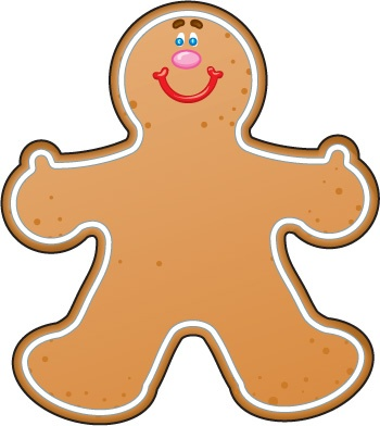 Gingerbread clipart #4
