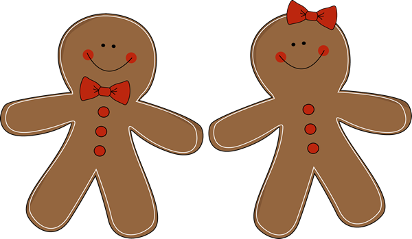 Brown clipart gingerbread man Image Christmas clipart art 2