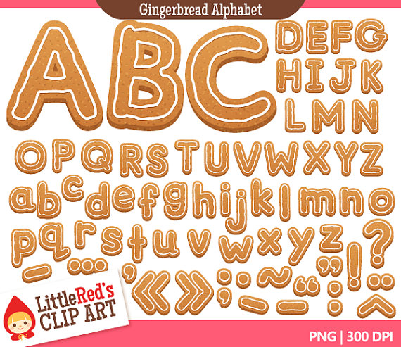 Gingerbread clipart alphabet Alphabet and Letters use Art