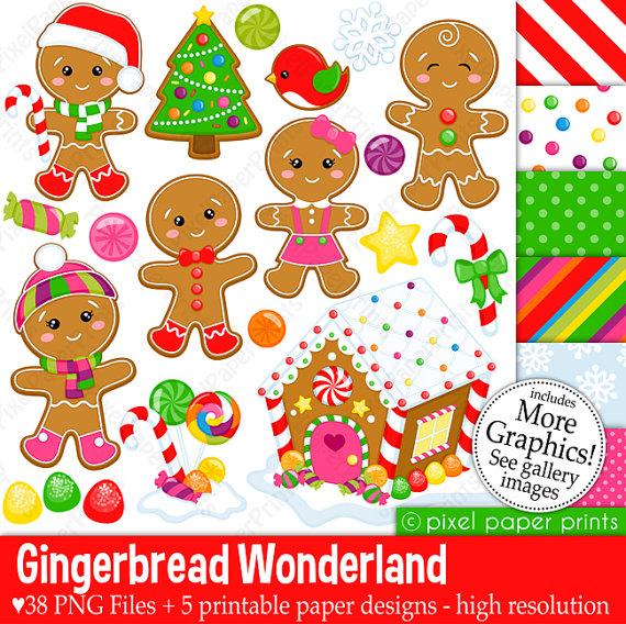 Gingerbread clipart alphabet WXYZ art Alphabet Clip art
