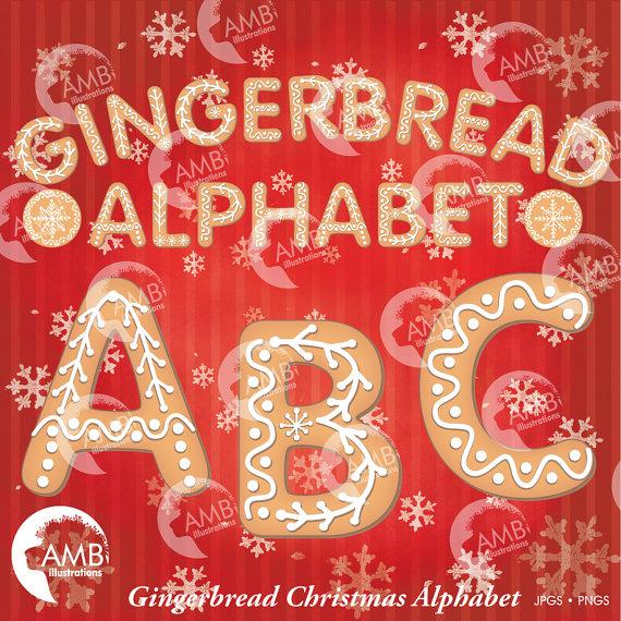 Gingerbread clipart alphabet Gingerbread Art Cookie A Clip