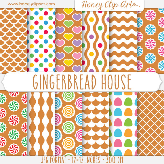 Gingerbread clipart background #4
