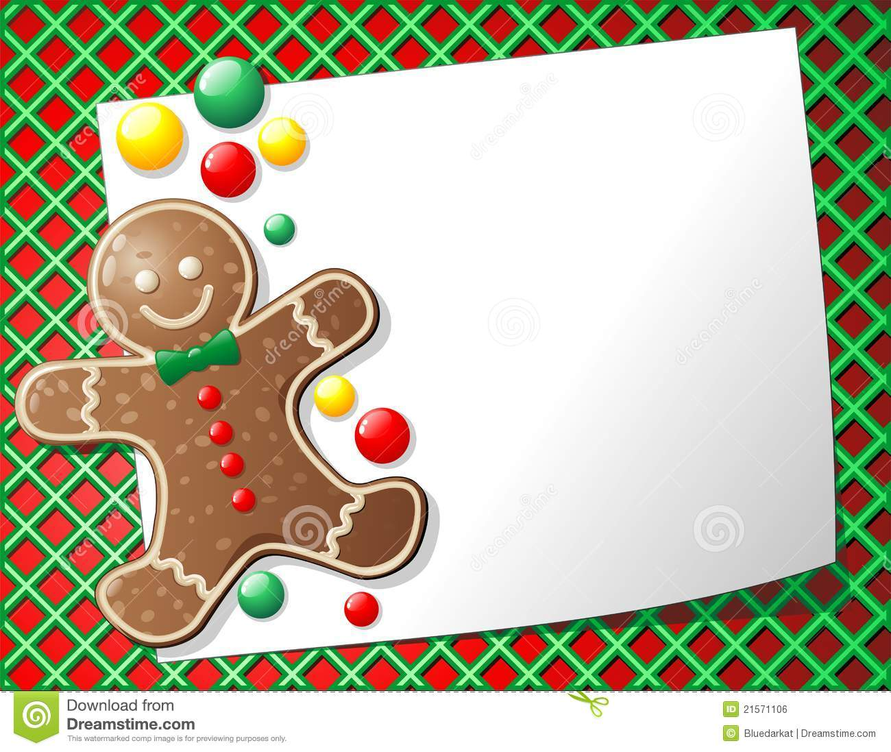 Gingerbread clipart background #7