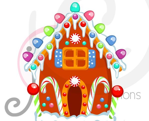 Gingerbread clipart background #5