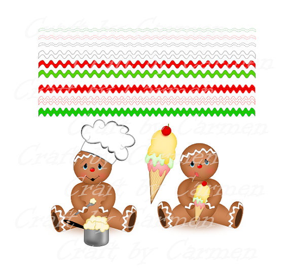 Gingerbread clipart background #3