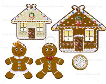 Gingerbread clipart christmas couple Gingerbread crafts clipart Etsy clipart