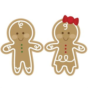 Gingerbread clipart christmas couple Christmas Best on Pinterest Couple