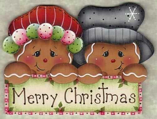 Gingerbread clipart christmas couple  Merry Gingerbread couple christmas