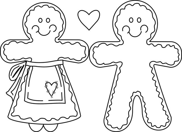 Gingerbread clipart christmas couple 20+ Coloring man coloring Gingerbread