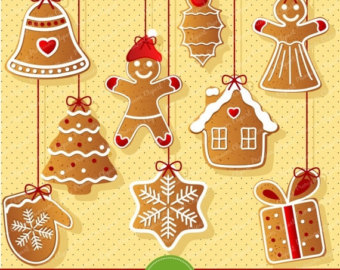 Gingerbread clipart christmas tree Tree clipart SALE OFF Gingerbread