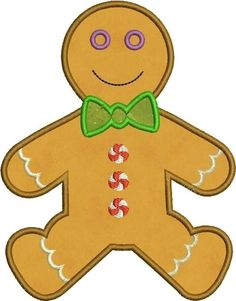 Gingerbread clipart cut out Cut  Applique INSTANT Ornament
