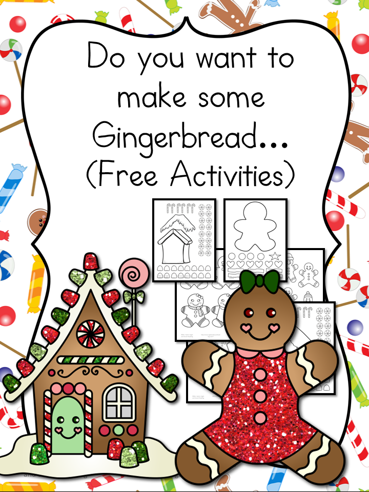 Gingerbread clipart cut out Gingerbread to template Lesson along