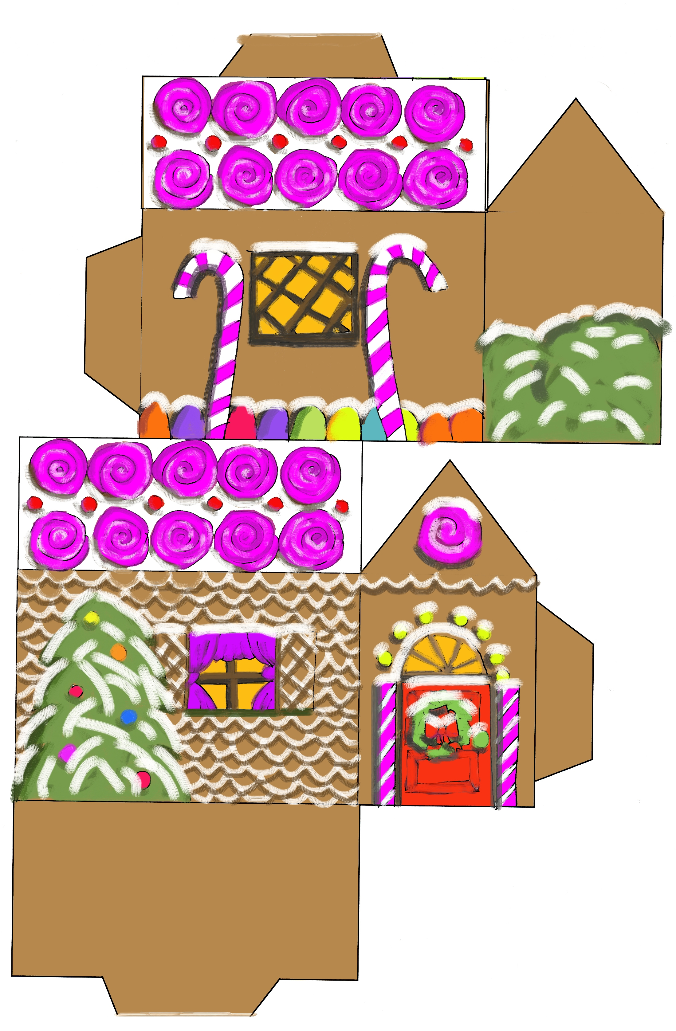 Gingerbread clipart cut out House House( )  houses