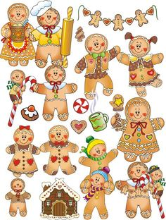 Gingerbread clipart cute button #3
