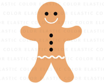 Gingerbread clipart cute button #10