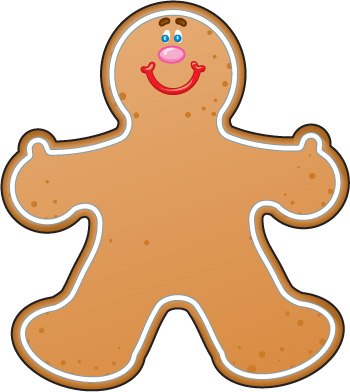 Gingerbread clipart cute button #2