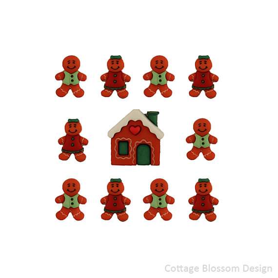 Gingerbread clipart cute button #4