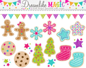 Gingerbread clipart cute button #9