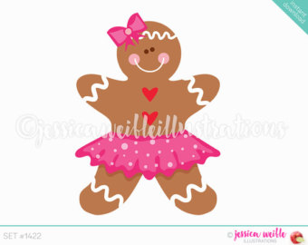 Gingerbread clipart cute button #13
