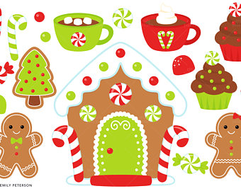 Gingerbread clipart cute button #12