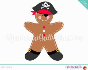 Gingerbread clipart cute button #8