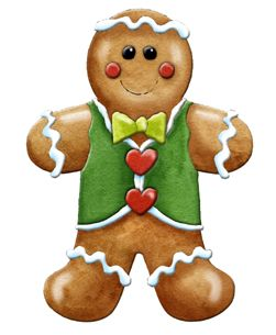 Gingerbread clipart decoration Find man on this decorations