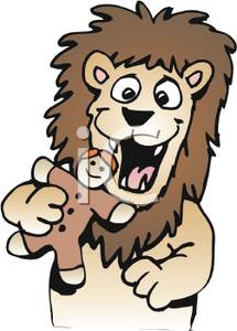 Gingerbread clipart eaten Cookie Eating Lion a A