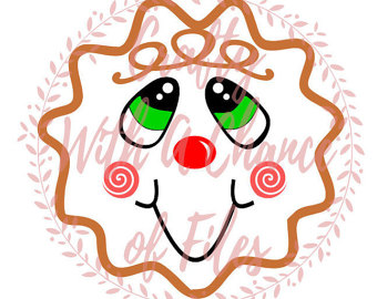 Gingerbread clipart face #8